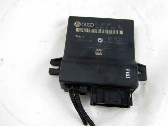 Details about 4L0907468 ECU GATEWAY AUDI Q7 3 0 171KW 5P D AUT (2007)  REPLACEMENT USED