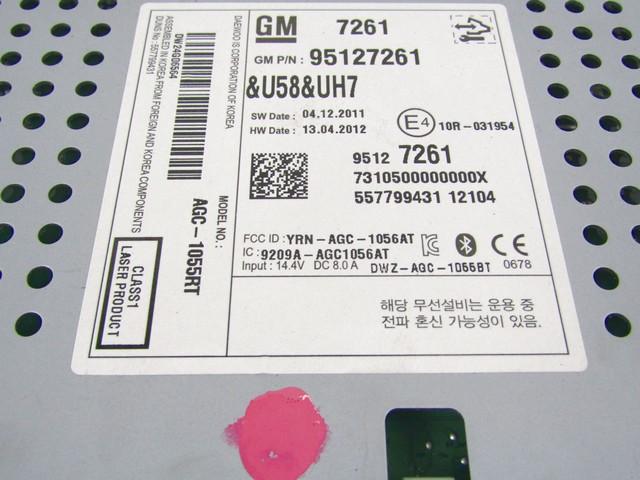 95127261 Car Radio Chevrolet Aveo 13 55kw 5m D 5p 12 Replacement