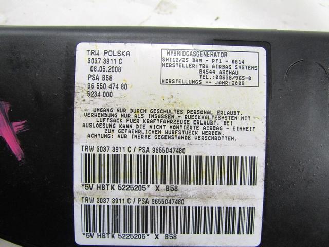Airbag Sedile Sinistro Citroen Grand C4 Picasso 2.0 HDI 136cv 2007 9655047480
